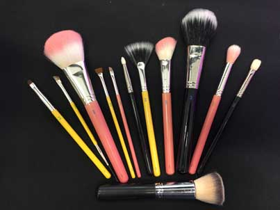 Just a few of the premium makeup brushes we offer.